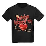 Katelyn Lassoed My Heart Kids Dark T-Shirt