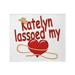 Katelyn Lassoed My Heart Throw Blanket