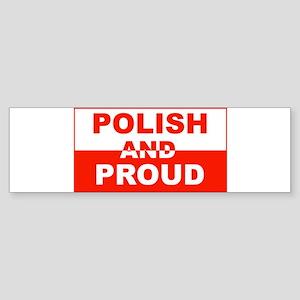 Polish and Proud-II Bumper Sticker