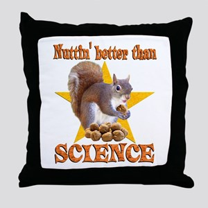 Science Squirrel Throw Pillow