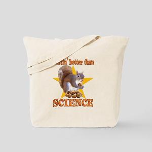 Science Squirrel Tote Bag