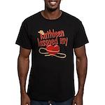 Kathleen Lassoed My Heart Men's Fitted T-Shirt (da
