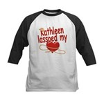 Kathleen Lassoed My Heart Kids Baseball Jersey