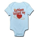 Kathleen Lassoed My Heart Infant Bodysuit