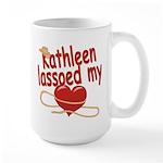 Kathleen Lassoed My Heart Large Mug