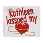 Kathleen Lassoed My Heart Throw Blanket