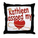 Kathleen Lassoed My Heart Throw Pillow