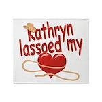Kathryn Lassoed My Heart Throw Blanket