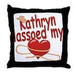 Kathryn Lassoed My Heart Throw Pillow