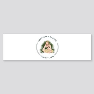Tropicana Lounge Hula Girl 4 Sticker (Bumper)