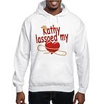 Kathy Lassoed My Heart Hooded Sweatshirt