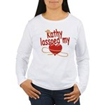Kathy Lassoed My Heart Women's Long Sleeve T-Shirt