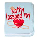 Kathy Lassoed My Heart baby blanket