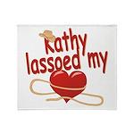 Kathy Lassoed My Heart Throw Blanket