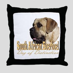 Boerboel Dog of Distinction Throw Pillow