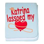 Katrina Lassoed My Heart baby blanket