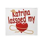 Katrina Lassoed My Heart Throw Blanket