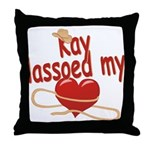 Kay Lassoed My Heart Throw Pillow