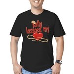 Kelly Lassoed My Heart Men's Fitted T-Shirt (dark)