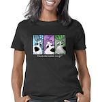 corgi-manyfaces-blk Women's Classic T-Shirt