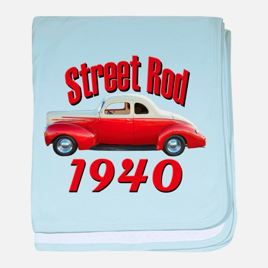 1940 Ford Hot Rod Desert Spec baby blanket