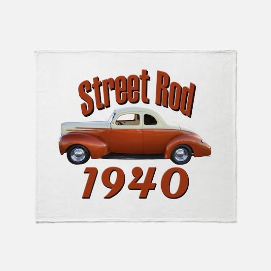 1940 Ford Hot Rod Desert Spec Throw Blanket