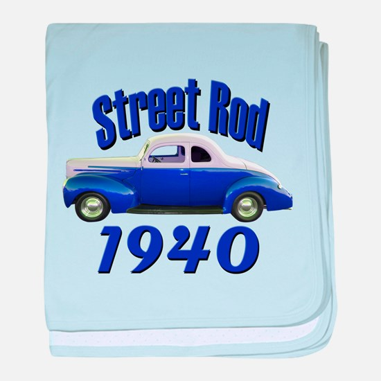 1940 Ford Street Rod Midnight baby blanket