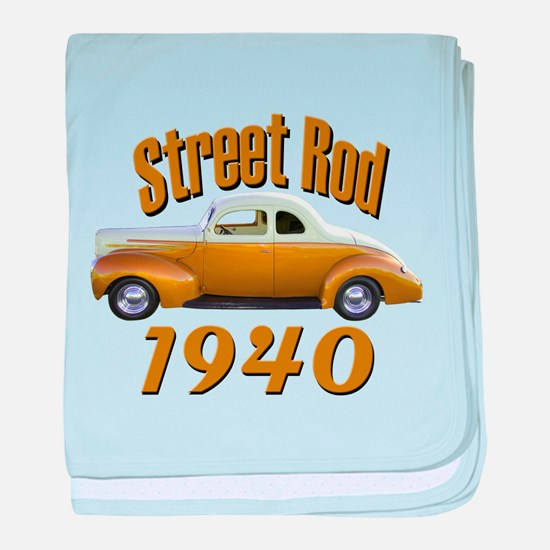 1940 Ford Hot Rod Copper Came baby blanket