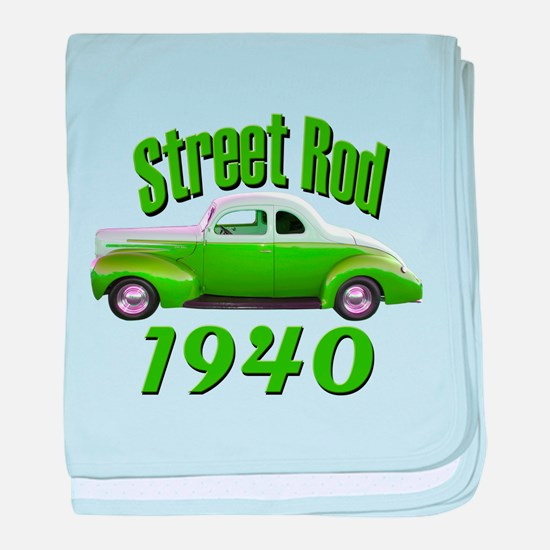 1940 Ford Street Rod Lime Aid baby blanket