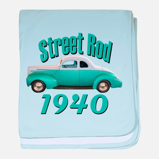 1940 Ford Hot Rod Jade baby blanket