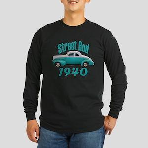 1940 Ford Hot Rod Jade Long Sleeve Dark T-Shirt