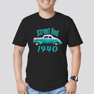 1940 Ford Hot Rod Jade Men's Fitted T-Shirt (dark)