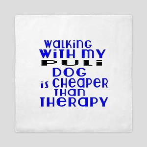 Walking With My Puli Dog Queen Duvet