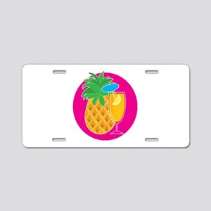 Pineapple Cocktail Aluminum License Plate