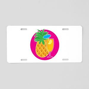 Pineapple Cocktail Aluminum License Plate