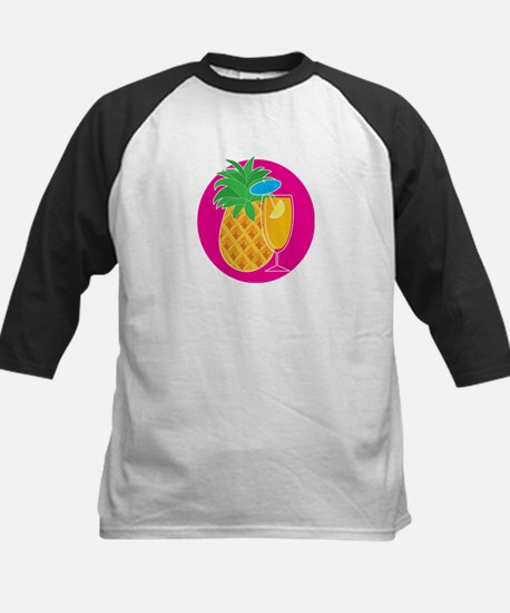 Pineapple Cocktail Kids Baseball Jersey