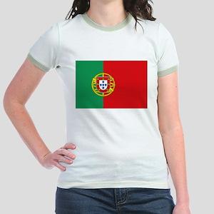 Portuguese flag Jr. Ringer T-Shirt