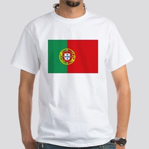 Portuguese flag White T-Shirt