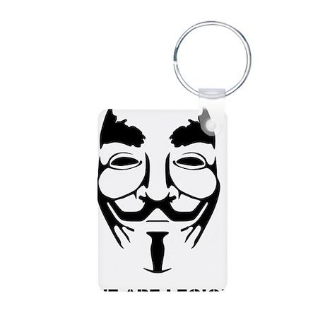 Anonymous Mask Legion Aluminum Photo Keychain