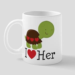 I Heart Her Turtle Love Mug