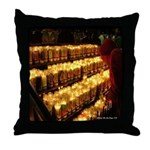 Velas/candles Throw Pillow