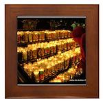 Velas/candles Framed Tile
