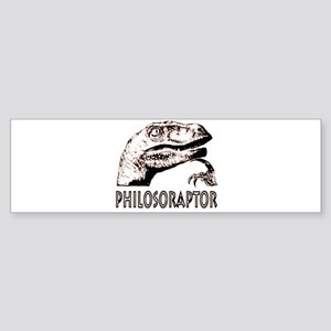 Philosoraptor Labeled Sticker (Bumper)