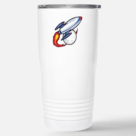Rocket Ship Stainless Steel Travel Mug
