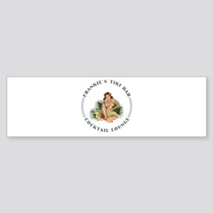 Frankie's Tiki Bar Hula Girl 1 Sticker (Bumper)