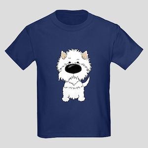 Big Nose Westie Kids Dark T-Shirt