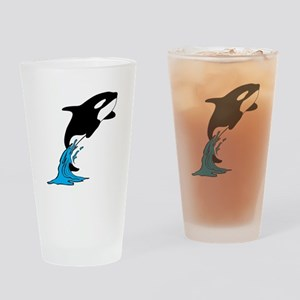 Killer Whale Jump Drinking Glass