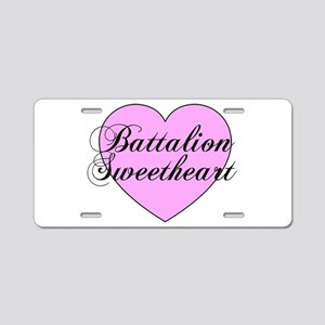 "Heart ""Battalion Sweetheart"" Aluminum License Plat"