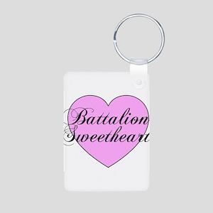 "Heart ""Battalion Sweetheart"" Aluminum Photo Keycha"