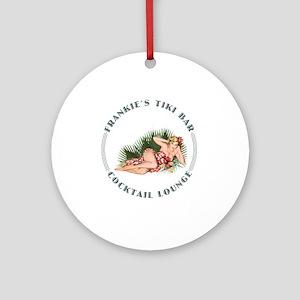 Frankie's Tiki Bar Hula Girl 2 Ornament (Round)